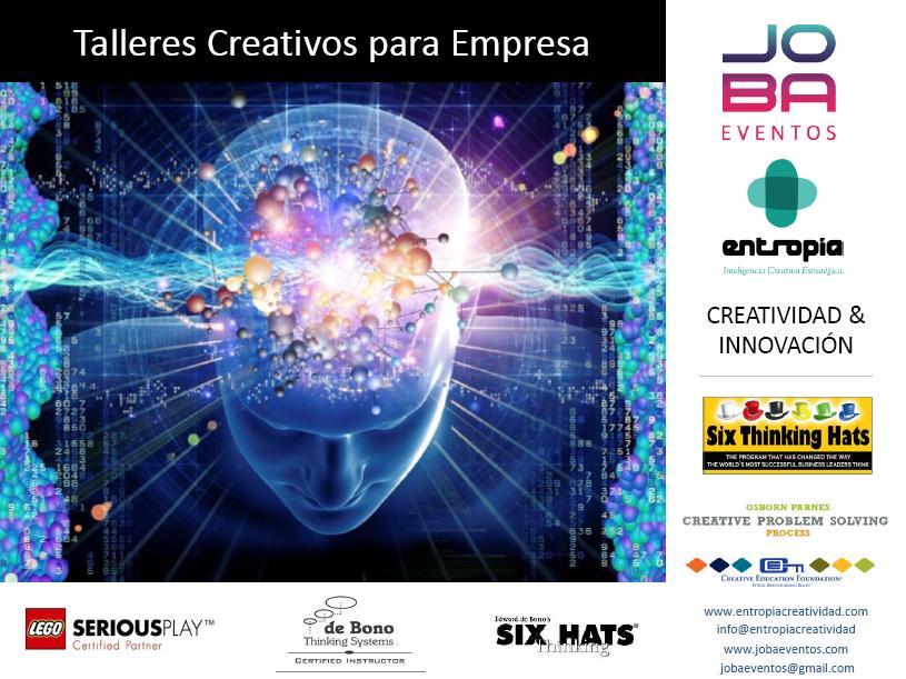 CREATIVIDAD E INNOVACIÓN PARA LAS EMPRESAS - JOBA EVENTOS f3211e3ef52