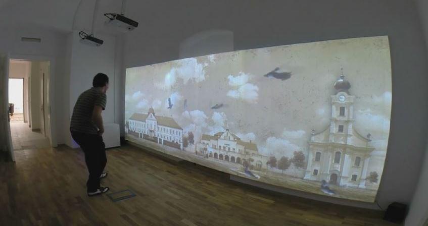 proyección interactiva arte y entretenimiento