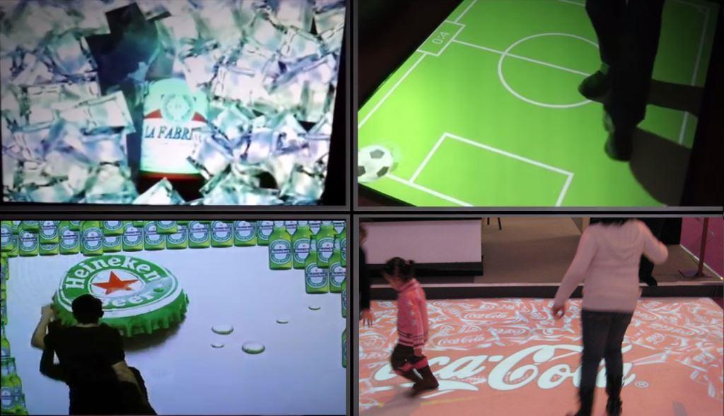 proyección interactiva para publicidad